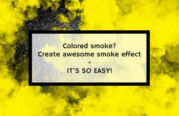 Colored smoke? Create awesome smoke effect - it's so easy!