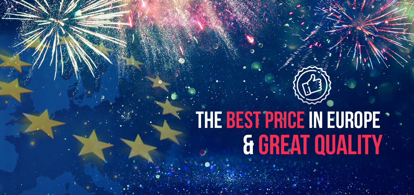 The best price in Europe